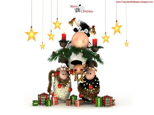 Wallpapere MaxFun.ro » Merry Sheeps Christmas
